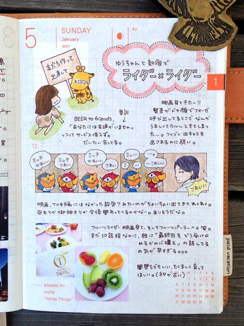 daily page:: Four-Frame Comic | sabao nikki #layout #Journal #hobonichi