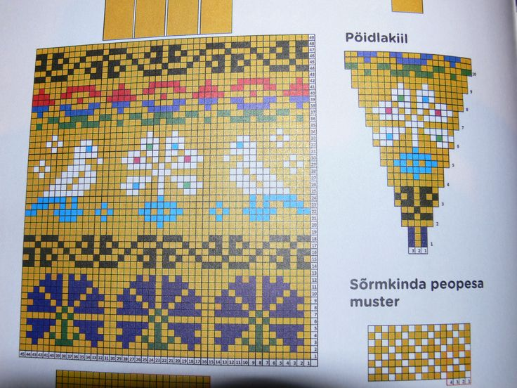 Colour chart for yellow gloves; from Helena Smitt's book, p 8
