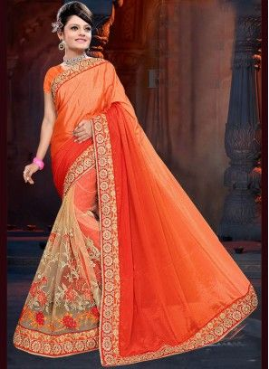 21760ffe7addf  sarees  saree  sareeblouse  online Orange Embroidered Work Art Silk Shaded  Saree If you want to buy Indian designer sarees then Indians Fashion is the  best ...
