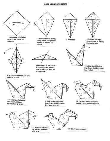 Origami Hummingbird Instructions . Elegant origami