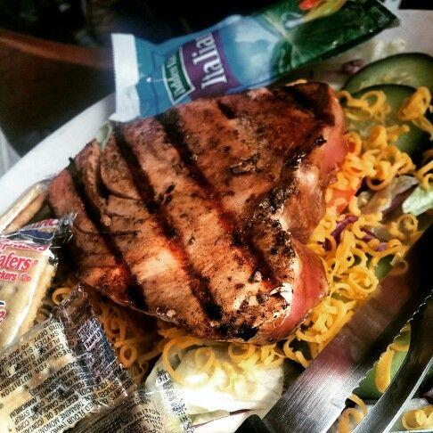 Seared Tuna Steak from The Original Ground Pati on Johnston St.