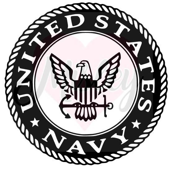 united states navy emblem svg png and studio3 cut files