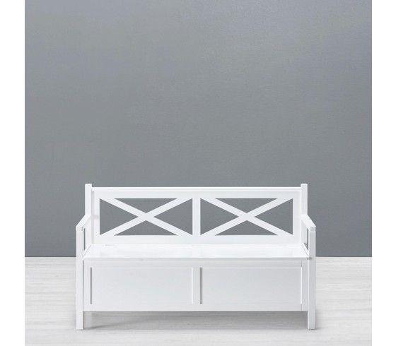 Klassische Sitzbank In Weiß   Bringt Landhausstil In Ihr Zuhause