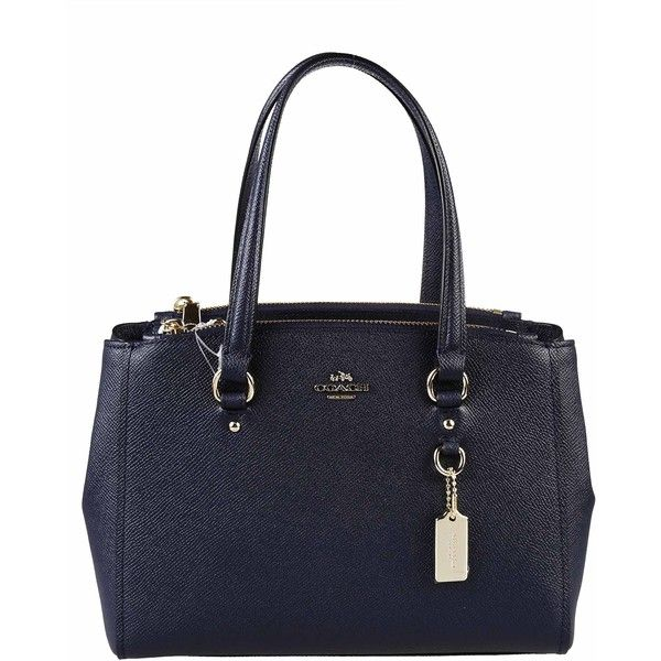 Coach Totes ($325) ❤ liked on Polyvore featuring bags, handbags, tote bags, navy, blue leather tote bag, genuine leather tote, navy leather tote, coach handbags and coach tote