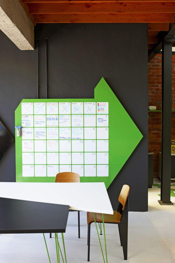 Custom pinboard for Plank ofices. Interior Design by Haldane Martin, Photo Micky Hoyle