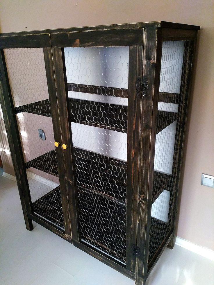 Siyah Tel Dolap – 110x150x40 cm