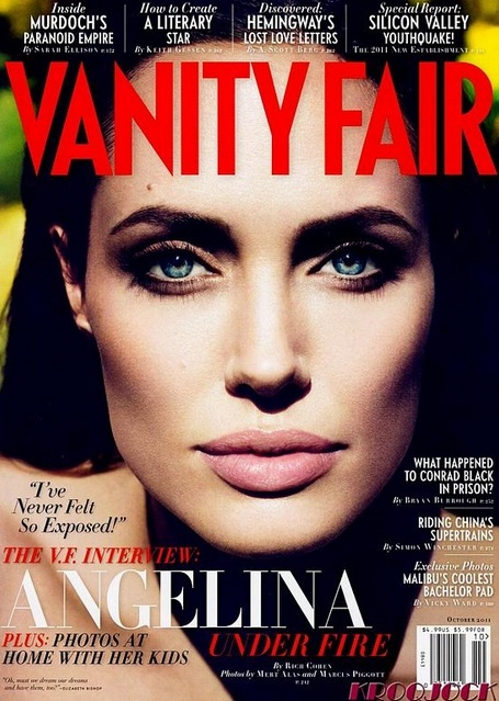 True Fashionista Now | Angelina Jolie Fire Hot Cover For October Issue Of Vanity Fair.