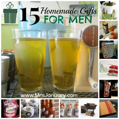 Men always seem to be so difficult to shop for - don't you agree? Instead of searching the stores high and low for the perfect give - just make something! These 15 homemade gifts for men will inspire you...