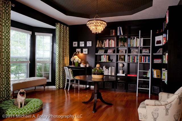 Black With A Blast Of Green Home Decor Pinterest Black Rooms Room And D Ry Rods