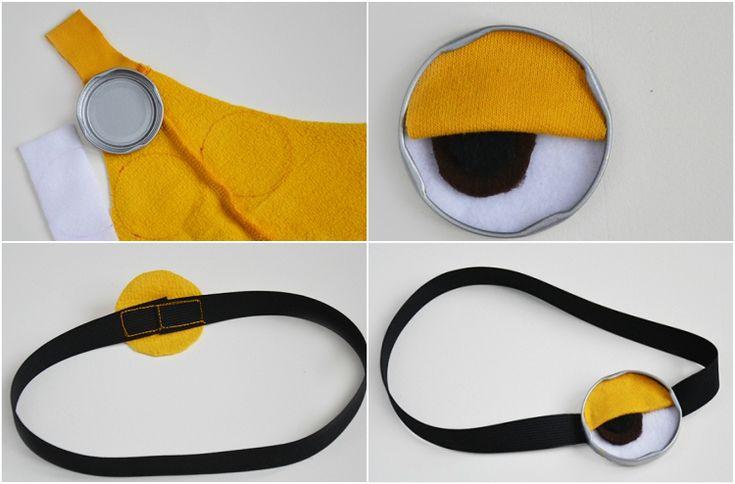 minion kostüm selber machen anleitung maske auge #fasching #minions #carnival