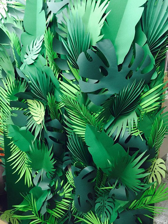 Blended types, shapes and sizes Paper leaves, inexperienced leaves, leaves minimize outs, palm leaves, palm leaf, tropical leaves