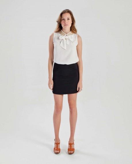 Metal stud collar blouse $51.95