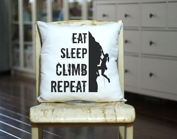 Climber Gift Decorative Pillow - Personalized Pillow, Throw Pillow, Customized Pillow for Mountains Lower