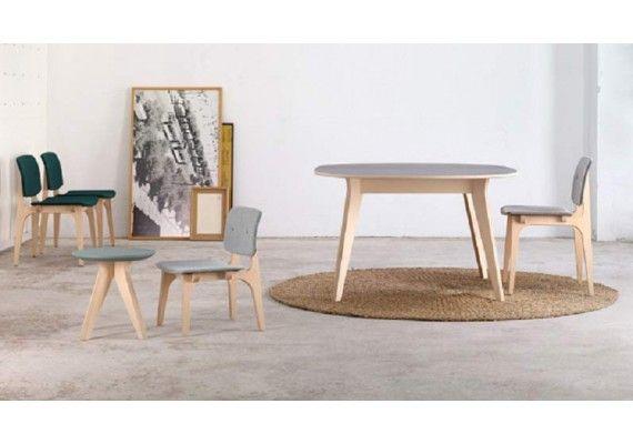 Precio y oferta mesa mikado ondarreta dise o n rdico for Mesa redonda diseno madera