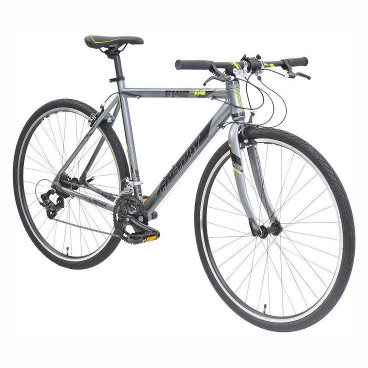 Factory F140-700C 14 Speed Flat Bar Road Bike - Yellow - 82024