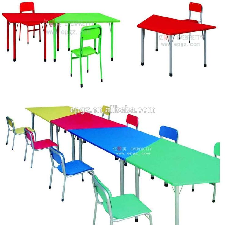 Kids Study Table and Chair Set for Children Study of Nursery School Furniture