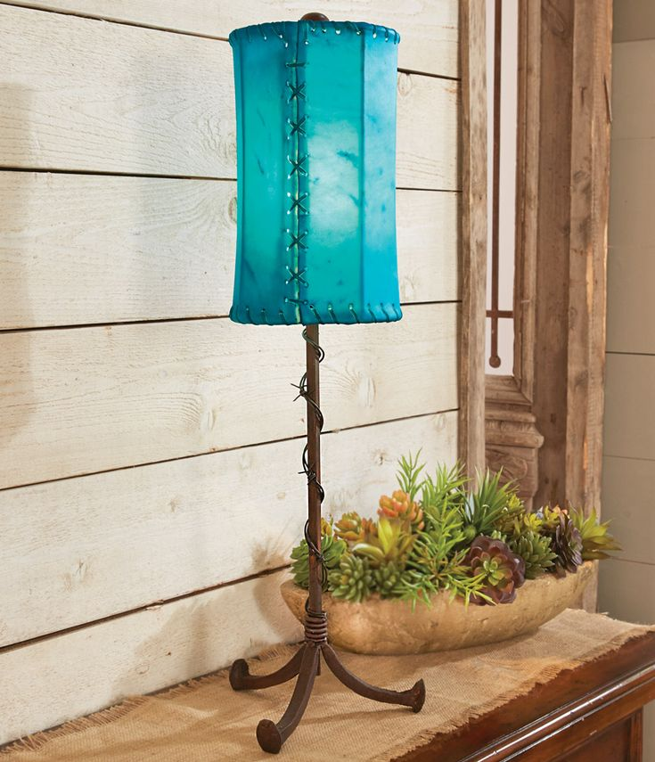 Frontier Accent Lamp with Rawhide Shade