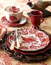 Autumn dishes, carved wood chargers