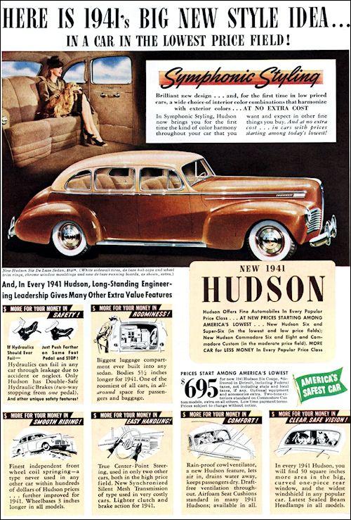 Hudson 1941 | Car Art | Cars, Hudson car, Retro cars