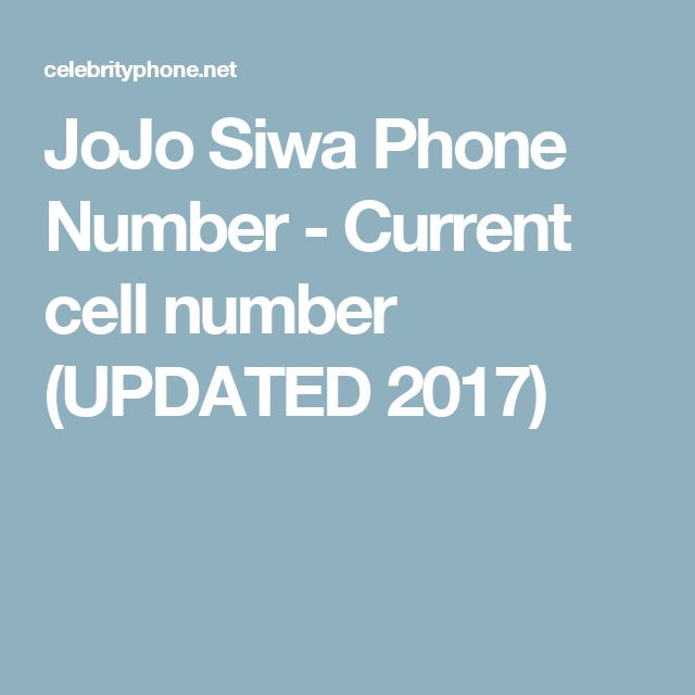 JoJo Siwa Phone Number - Current cell number (UPDATED 2017)