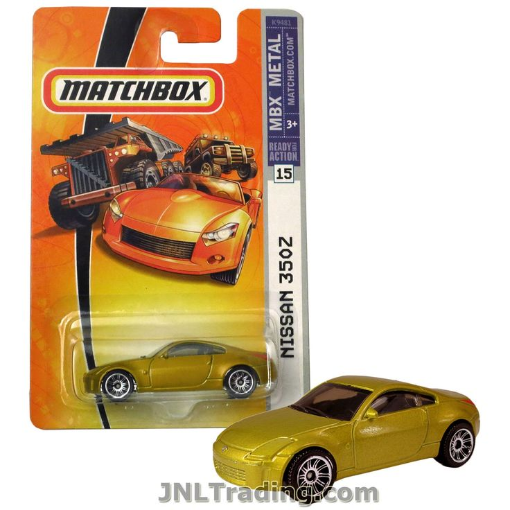 Matchbox Year 2006 MBX Metal Ready For Action Series 1:64 Scale Die Cast Metal Car #15 - Gold Color Sport Coupe NISSAN 350Z K9481