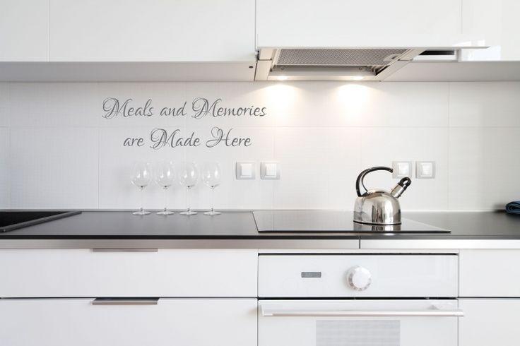 Muursticker keuken Meals and memories