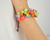 different colored beads bracelet