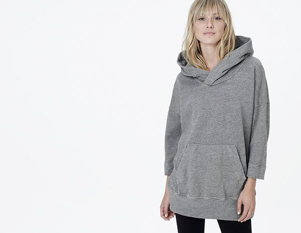 This would be PERFECT for long flights! OVERSIZED FLEECE HOODIE - WOMEN - James Perse - WQT3940 ...