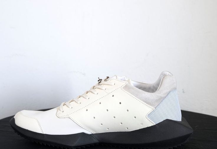 BNIB RICK OWENS x ADIDAS OFF WHITE TECH RUNNER SNEAKERS sz 11UK/11.5US/46EU,790$ #RICKOWENSxADIDAS #SNEAKERS