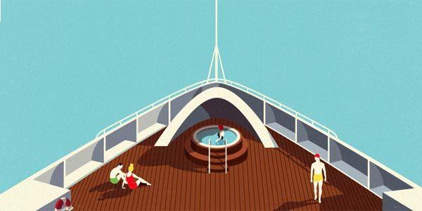 AFAR Magazine - The Cruise Illustrations by Malika Favre