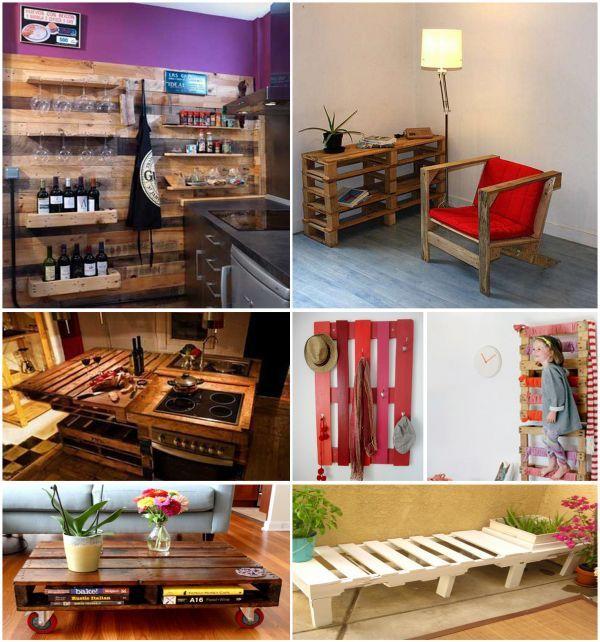 Aqu tienes algunas ideas para fabricar muebles y - Ideas para palets ...