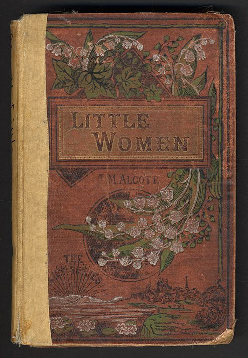 "Well-read Vintage Book ~  ""Little Women"" by L.M. Alcote .... The Lily Series with Lily of the Valley Decoration ...."