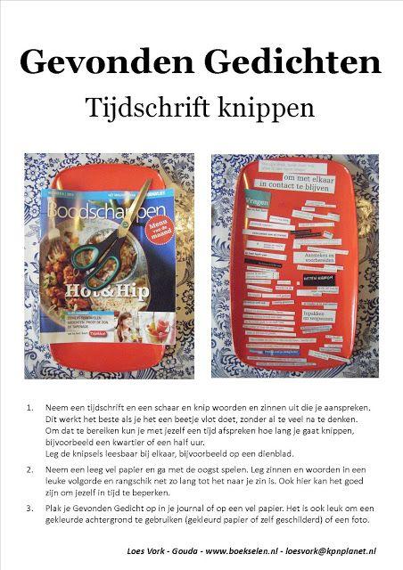 Gevonden gedicht / found poetry / altered text Werkblad door Loes Vork van www.boekselen.nl Workshops voor Creativiteit & Ontmoeting