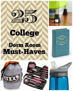 {August Guest Blogger} It Just Takes One - 25 Dorm Room Must Haves
