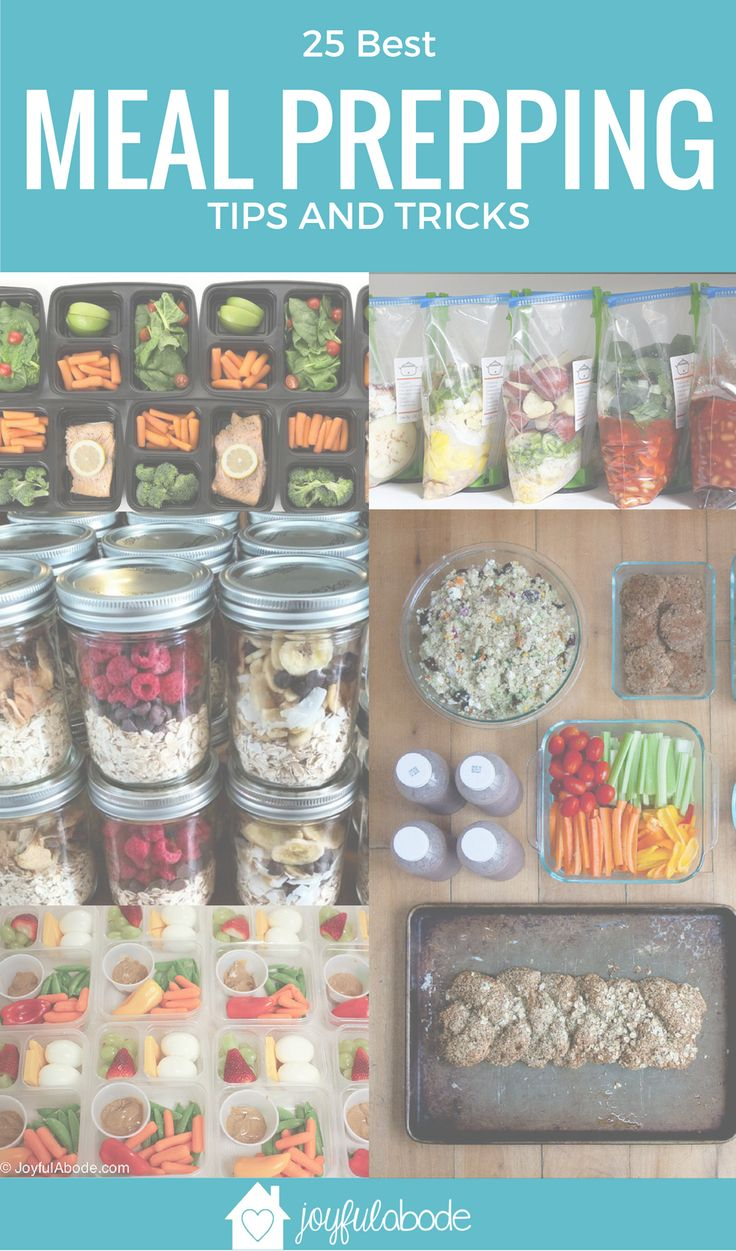 25 Best Meal Prepping Tips and Tricks | Whether you're meal prepping for health, weight loss, clean eating, or convenience, these 25 posts are the ones you need to look at! Great food preparation tips. | meal prep tips and tricks | tips for meal planning