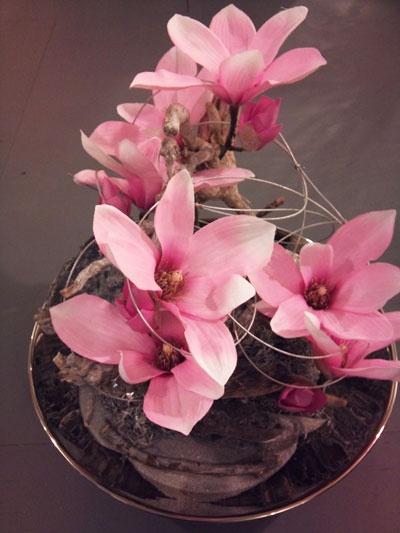 Kunstbloemen roze
