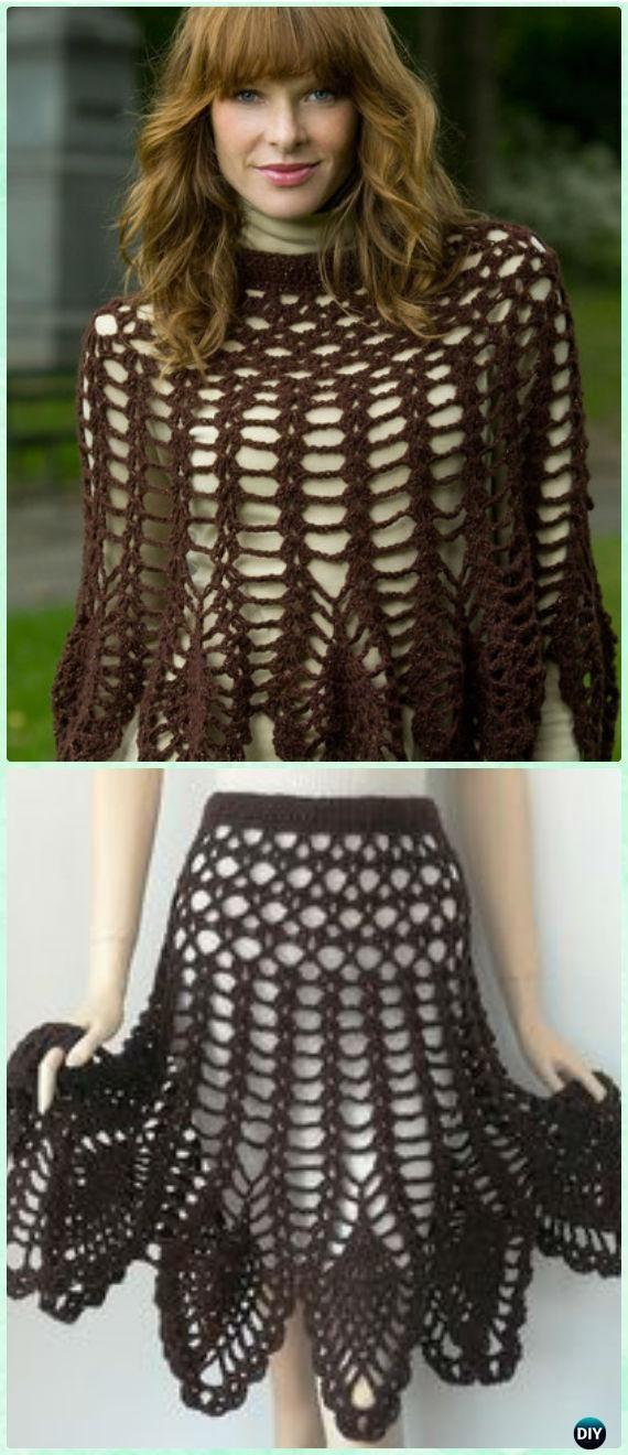Crochet Shimmer Skirt /Poncho Free Pattern - Crochet Women Skirt Free Patterns
