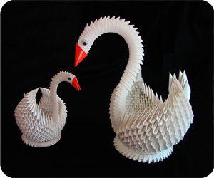 """3D Origami Swan                                                                                                                                                <button class=""""Button Module borderless hasText vaseButton"""" type=""""button"""">       <span class=""""buttonText"""">                          More         </span>          </button>"""