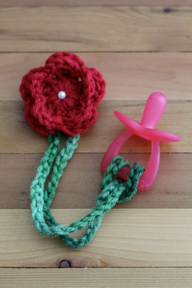 Crochet Pacifier Clip. $4.00, via Etsy.