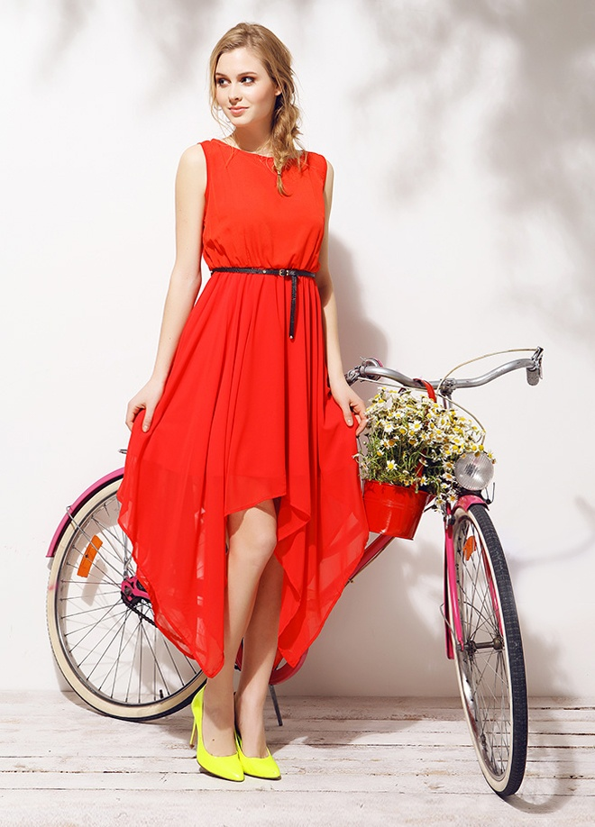 Mixray Şifon kolsuz elbise Markafonide 120,00 TL yerine 39,99 TL! Satın almak için: http://www.markafoni.com/product/3779466/