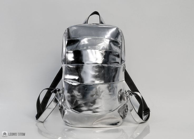 Silver Leather Backpack www.leonidtitow.com