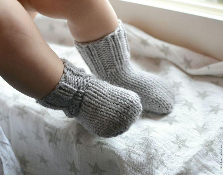 Купить Носочки для новорожденного, теплые шерстяные детские носки - серый, носки, носочки, носки вязаные