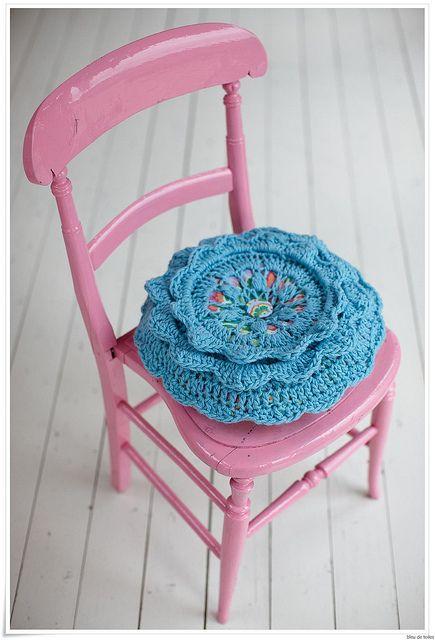 Crochet Cushion Love
