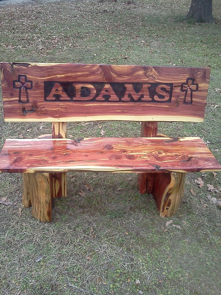 Cedar Log Bench For The Bus Stop My Log Furniture