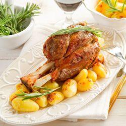 Rosemary roasted lamb shanks
