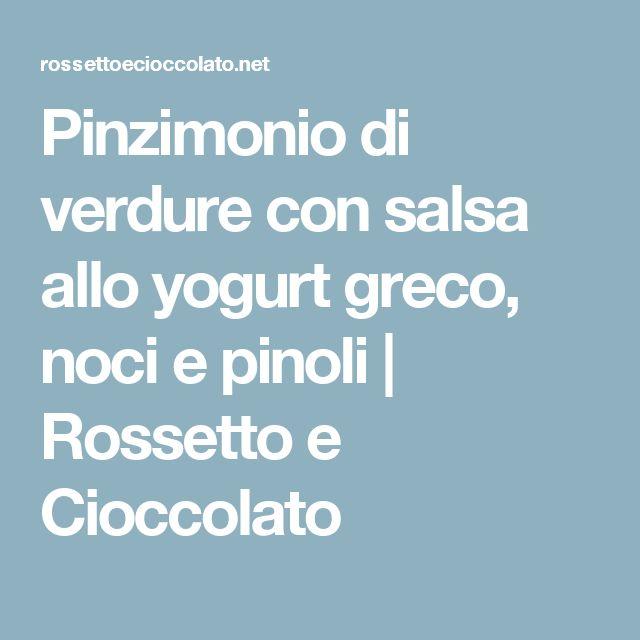 Pinzimonio di verdure con salsa allo yogurt greco, noci e pinoli   Rossetto e Cioccolato