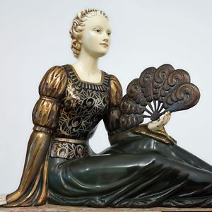 Image result for art deco lady figurines