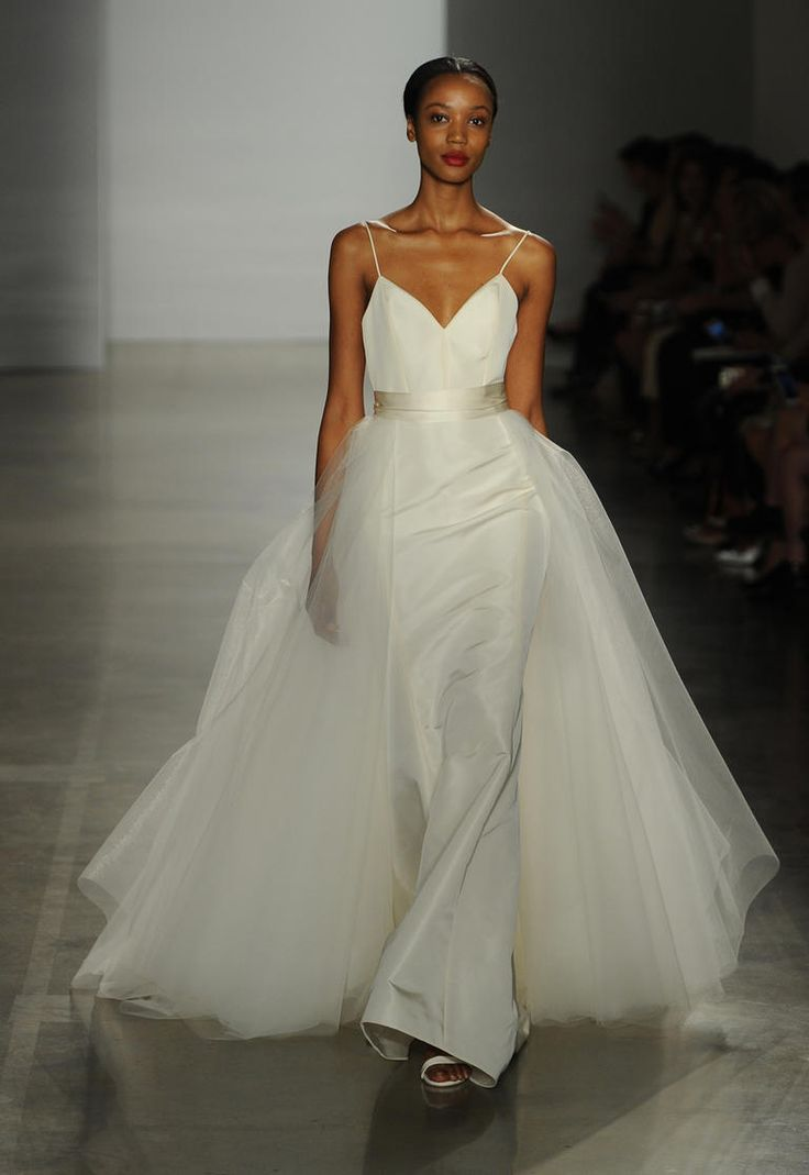 Modern Romance Wedding Dress : Amsale shows modern romantic wedding dresses for fall