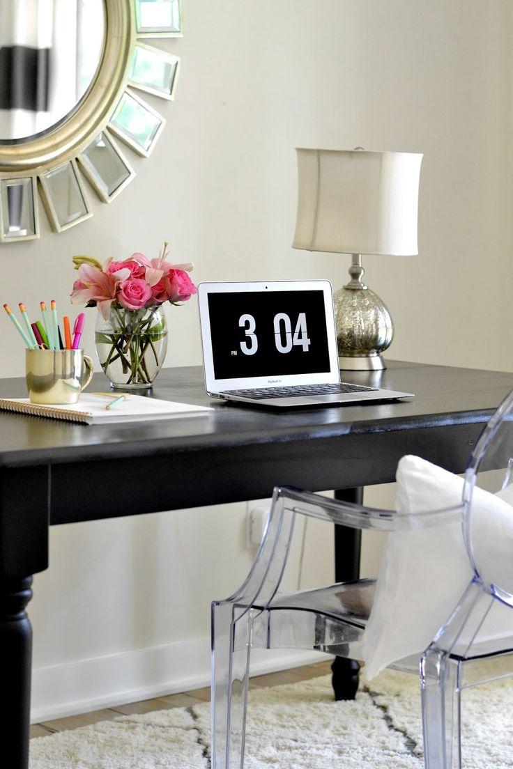 40 best home office images on pinterest home office work spaces and desks. Black Bedroom Furniture Sets. Home Design Ideas