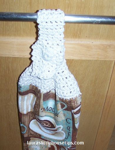 Crocheted Dish Towel Topper from Another Cent Saved!